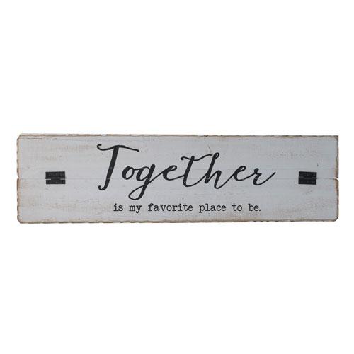 VIP International Together Wood Sign