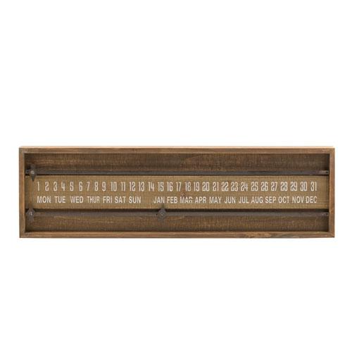 Wood Sliding Calendar