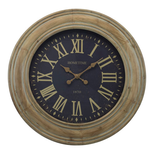 Wood 30 In. Wall Clock