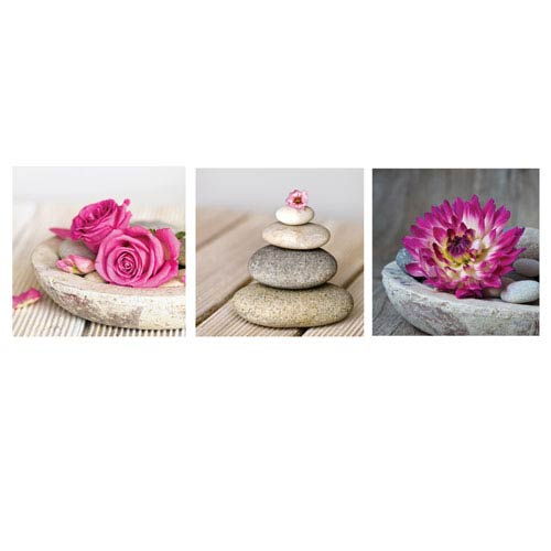 Spa Montage Canvas, Set of 3