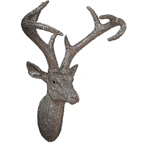 Star Studded Pewter Stag Head