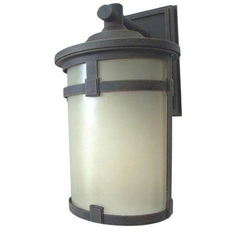 Rust Three-Light Outdoor LED Sconce