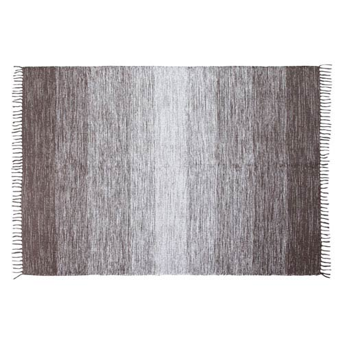 Gray Cotton Ombre Rectangular: 5 Ft. x 7 Ft. Rug
