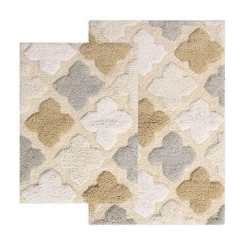 Alloy Spa Moroccan Tiles Two-Piece Bath Rug Set