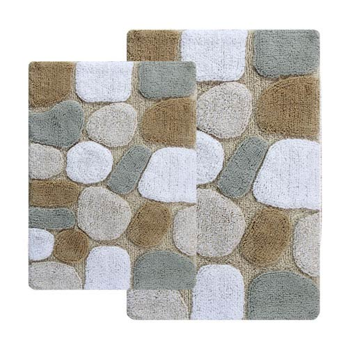 Chesapeake Merchandising Pebbles Spa Two Piece Bath Rug Set