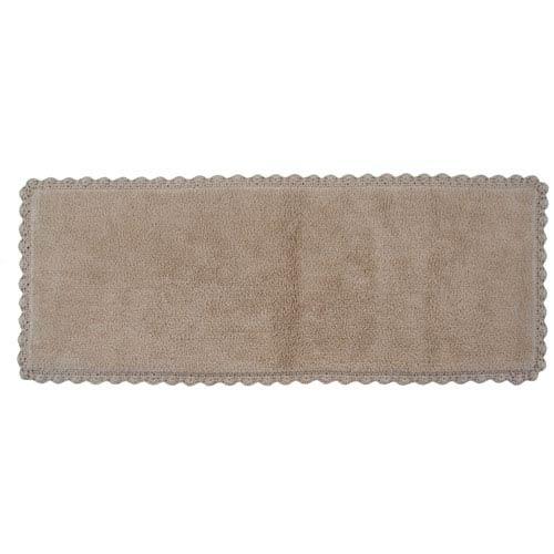 Crochet Linen 22-Inch x 60-Inch Bath Runner