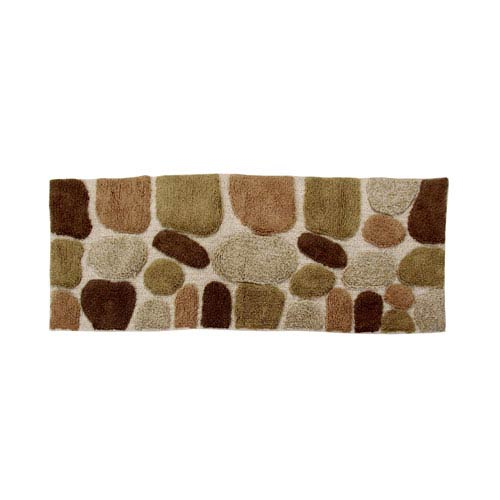 Pebbles Khaki 2 Ft. x 5 Ft. Runner Bath Rug