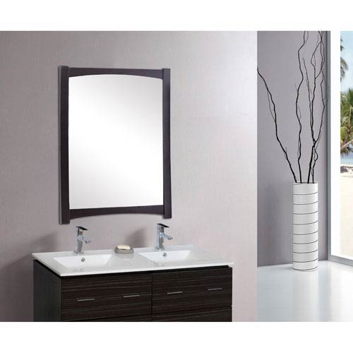 American Imaginations 34.25-in. W X 44-in. H Transitional Birch Wood-Veneer Wood Mirror In Distressed Antique Walnut