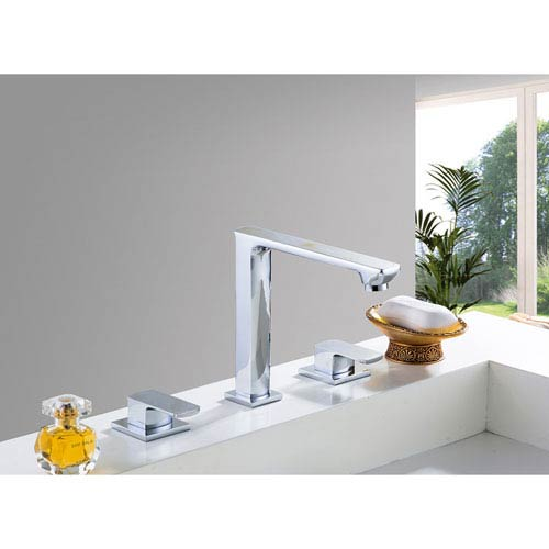 American Imaginations 3 Hole 8-in. CUPC Approved Brass Faucet In Chrome Color