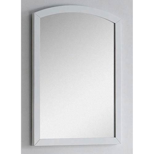 American Imaginations 23.62-in. W X 31.5-in. H Modern Birch Wood-Veneer Wood Mirror In White
