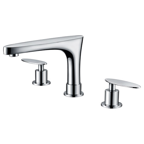 8-in. CUPC Approved Brass Faucet Set In Chrome Color With Drain