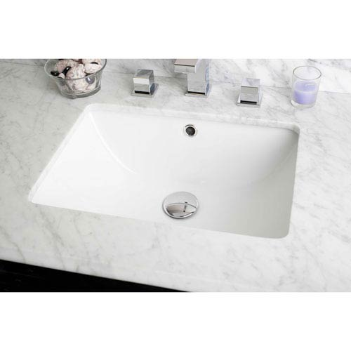 18.25-in. W X 13.5-in. D Rectangle Undermount Sink In White Color
