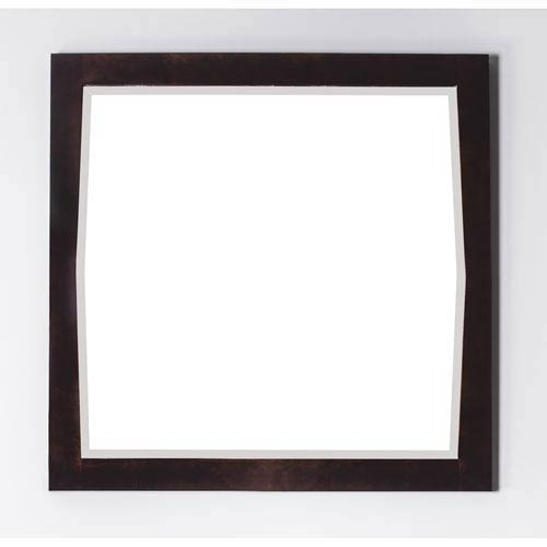 34-in. W X 34-in. H Transitional Birch Wood-Veneer Wood Mirror In Antique Walnut