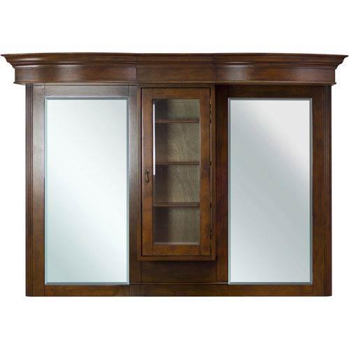 62-in. W X 45.25-in. H Traditional Birch Wood-Veneer Wood Mirror In Antique Cherry