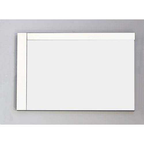 35.5-in. W X 23.5-in. H Modern Plywood-Veneer Wood Mirror In White