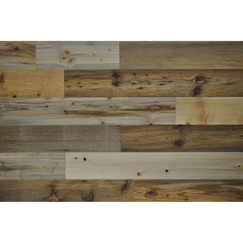 Peel and Stick Reclaimed River Wood, 4 In. Planks