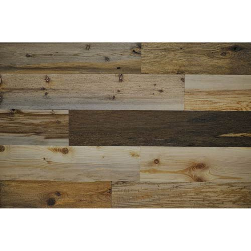 Peel and Stick Reclaimed River Wood, 5 In. Planks