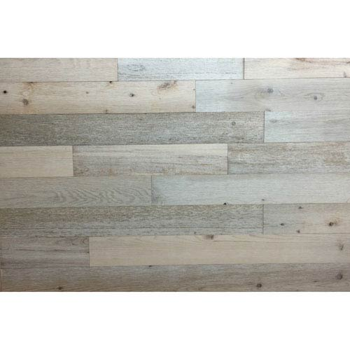 Peel and Stick Reclaimed Coast White Wood, 3 In. Planks