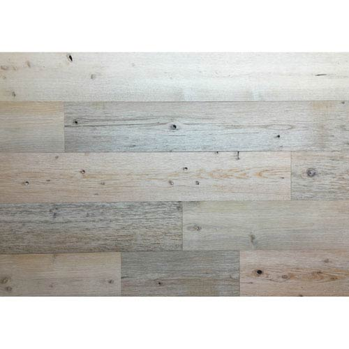Timberchic Peel and Stick Reclaimed Coast White Wood, 5 In. Planks