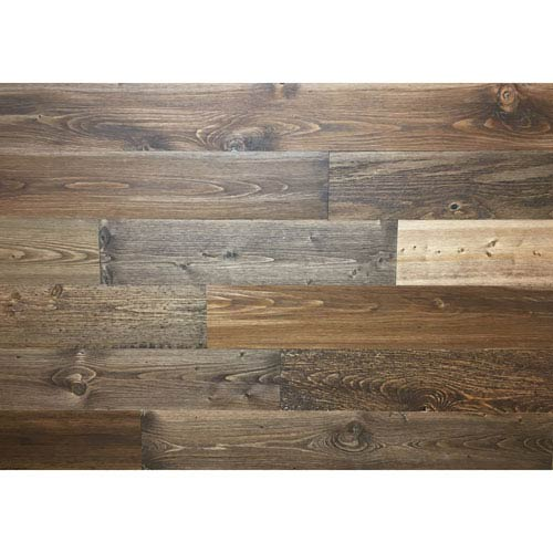Peel and Stick Reclaimed Freestone Wood, 4 In. Planks