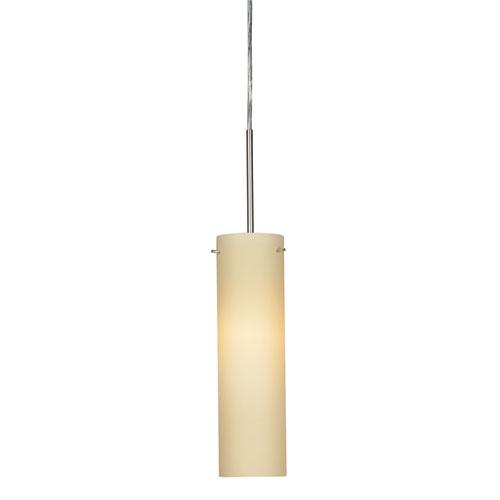 Soho Satin Nickel 4000K 120-227V LED Mini Pendant with Cream Shade