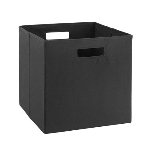 Ellis Black Storage Bin, Pack of 2