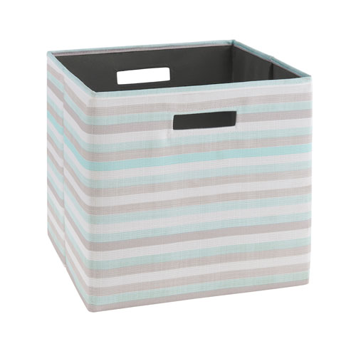 Ellis Aqua White Storage Bin, Pack of 2