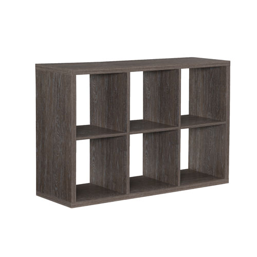 Ellis Grey Six Cubby Storage Cabinet