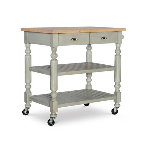 Lydia Gray and Green Kitchen Cart