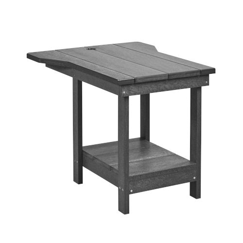 Generation Navy 24-Inch Patio Tete A Tete with Bottom Shelf and Umbrella Hole