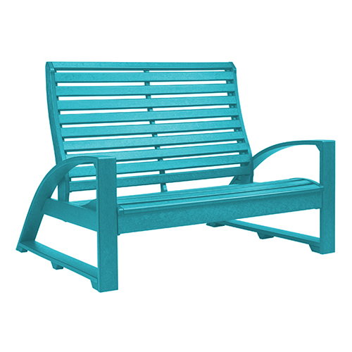C.R. Plastic Products St. Tropez Turquoise Love Seat