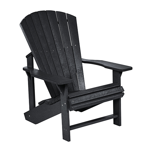 C.R. Plastic Products Generations Adirondack Chair-Black
