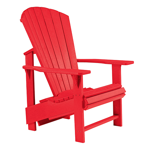 C.R. Plastic Products Generations Upright Adirondack Chair-Red