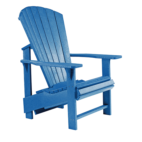 Generations Upright Adirondack Chair-Blue