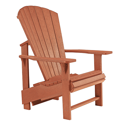 C.R. Plastic Products Generations Upright Adirondack Chair-Cedar
