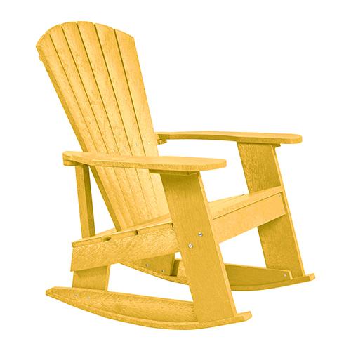 Generations Adirondack Rocking Chair-Yellow