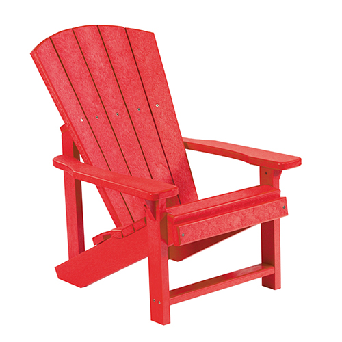 C.R. Plastic Products Generations Kids Adirondack Chair-Red