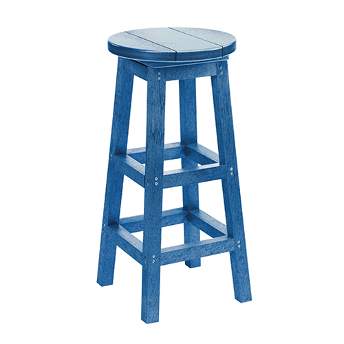 C.R. Plastic Products Generations Swivel Bar Stool-Blue