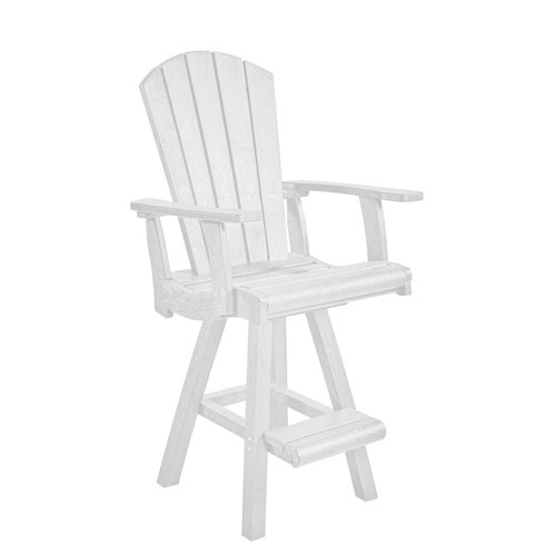 Generation White Swivel Pub Arm Chair