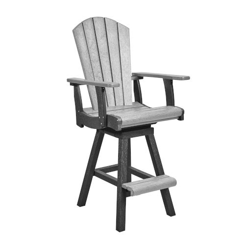 Generation Slate and Light Gray 25-Inch Swivel Pub Arm Chair