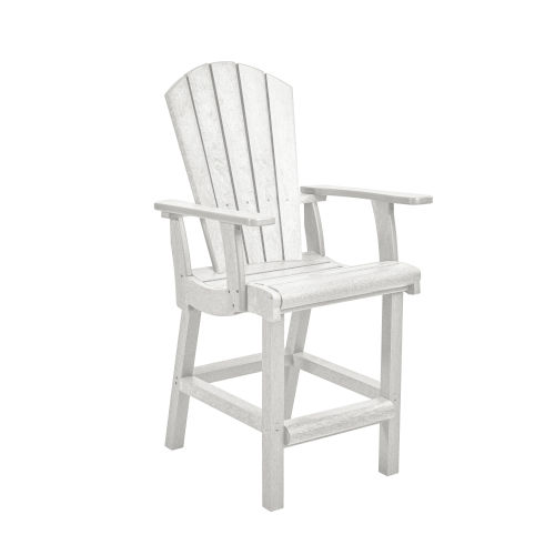 Generation White Patio Counter Height Arm Chair