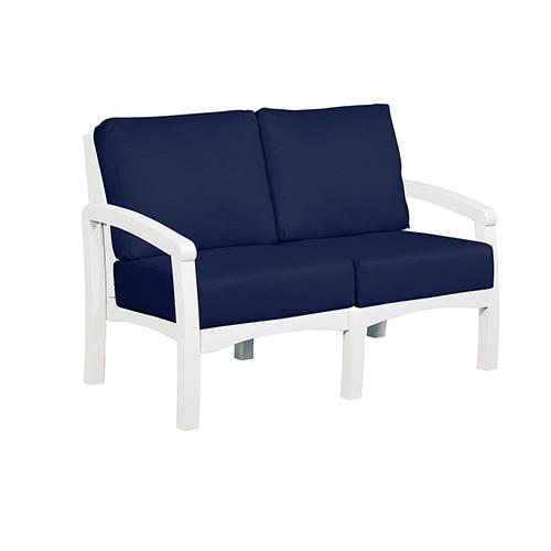 Bay Breeze Spectrum Indigo Loveseat with Cushions