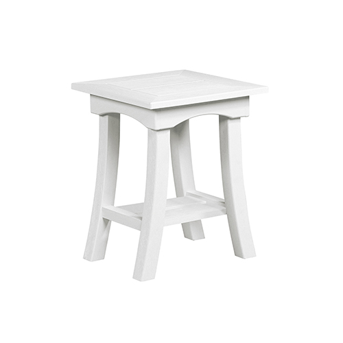 Bay Breeze White 19 In. End Table