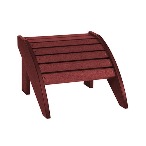 C.R. Plastics Burgundy Footstool