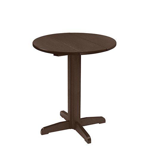 Generation 32-Inch Chocolate Round Table Top with a 40-Inch Pub Pedestal Base