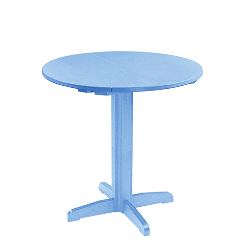 Generation Sky Blue 40 In. Pub Table with 40 In. Pedestal Base
