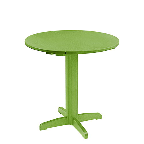Round Table Base Kit.C R Plastic Products Generation Kiwi Green 40 Inch Round Table Top With 40 Inch Pub Pedestal Base