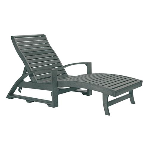 St. Tropez Slate Grey Chaise Lounge