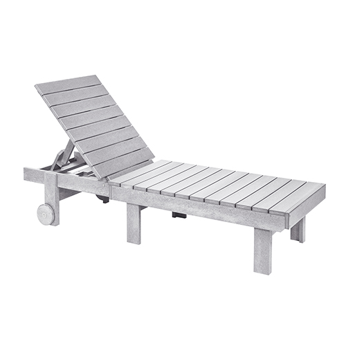 Generations Chaise Lounge with wheels-White