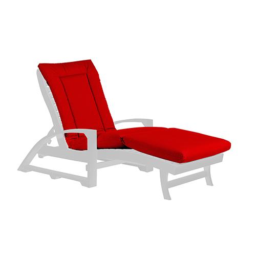 Canvas Jockey Red Chaise Lounge Cushion Pad